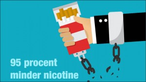 95 percent less nicotine