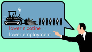 lower nicotine lower employment